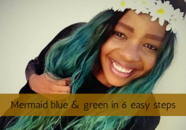 Mermaid blue and green hairin 6 easy steps