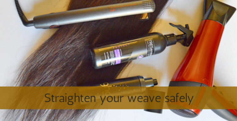 Straighten your weave SAFELY