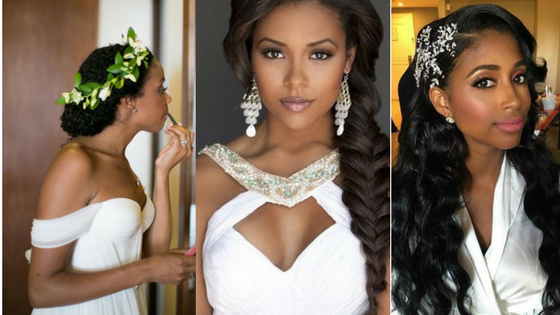 Traditional wedding hair,weave,wig
