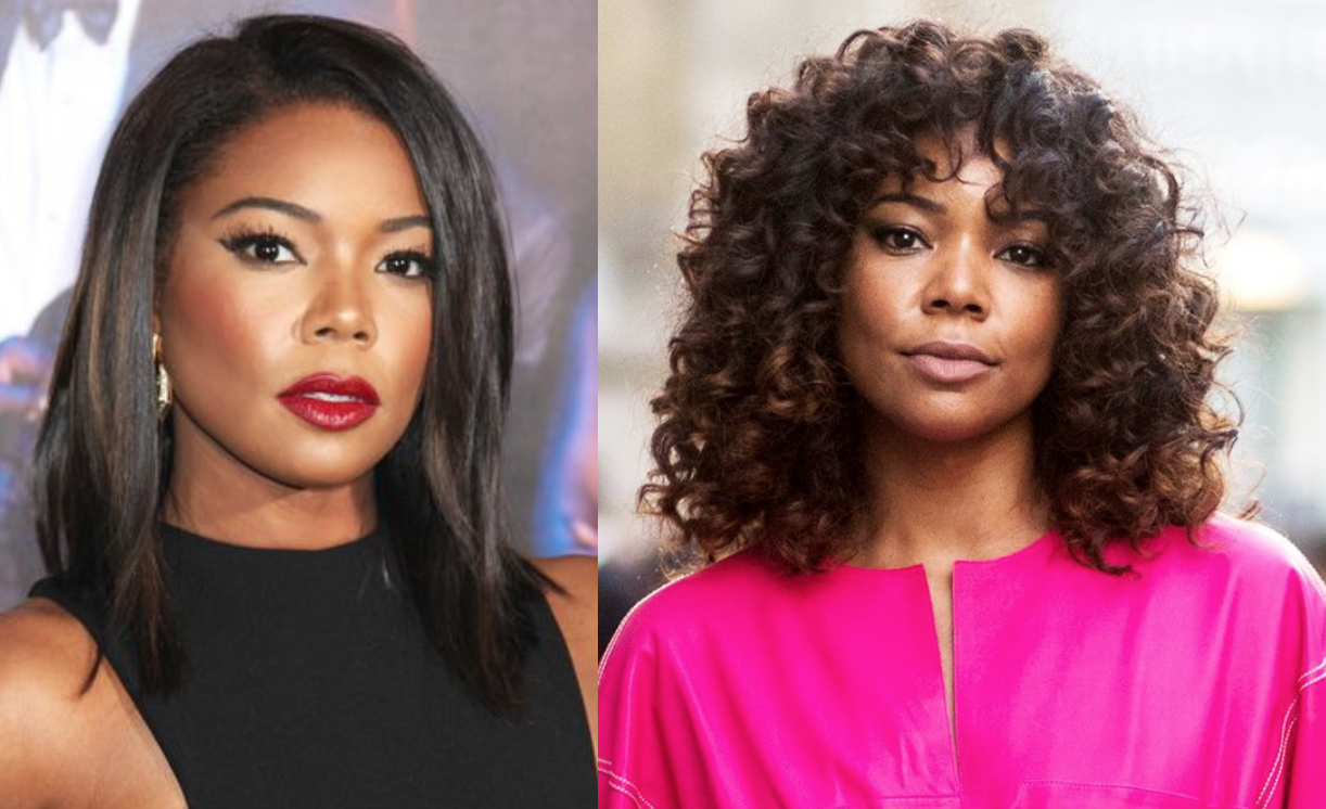 What your hair says about you.| Gabrielle-union-hair-curly-vs-straight